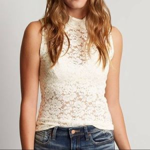 Bke boutique - lace top -  size large